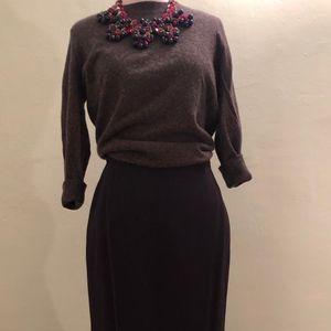 Gray Giorgio Armani Tulip Skirt